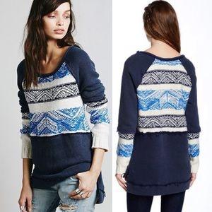 Free People Snow Angel Sweatshirt Knit Swe…